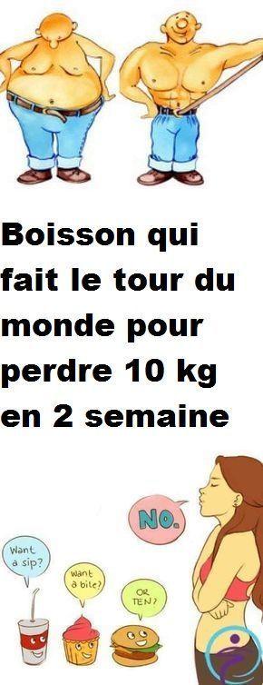 Boisson qui fait le tour du monde pour perdre 10 kg en 2