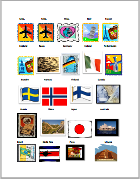 FREE Printable Passports and Country Stamps | GLAD | Pinterest ...