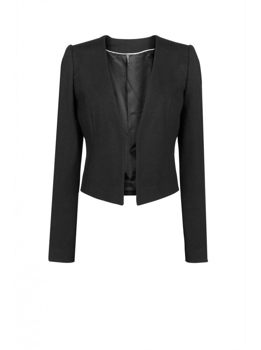 veste courte sans fermeture noir vestes femme naf naf projets cole pinterest vestes. Black Bedroom Furniture Sets. Home Design Ideas