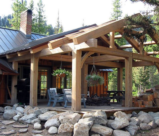 Timber Outdoor Living: Covered Timber Frame Patio Moose Creek