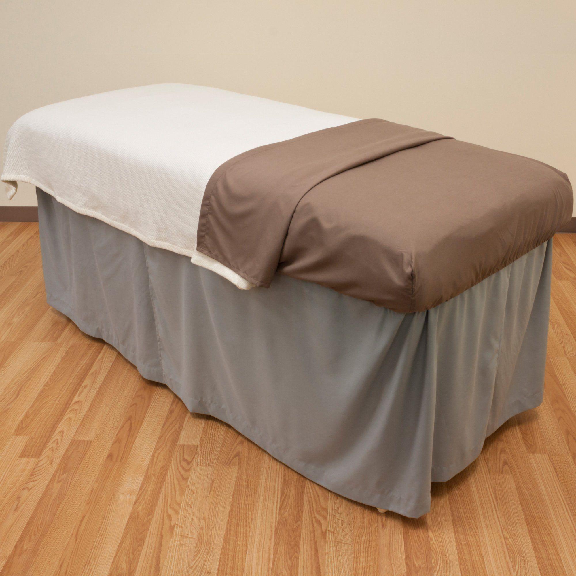 Microfiber Massage Table Skirt Walnut Brown from Body