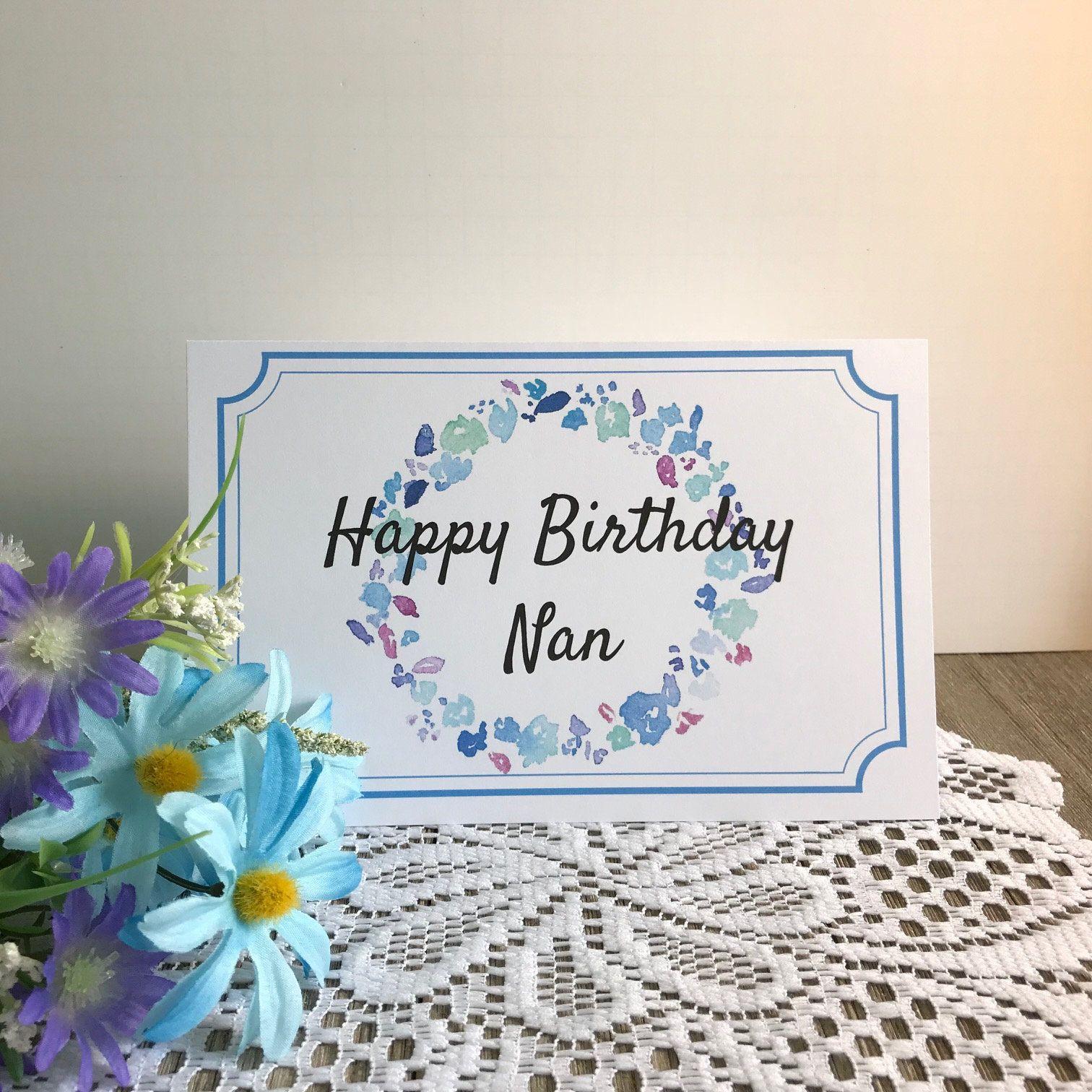 Printable Birthday Card For Nan