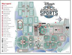 Disney S Wide World Of Sports Map Disney World Parks Disney Map World Of Sports