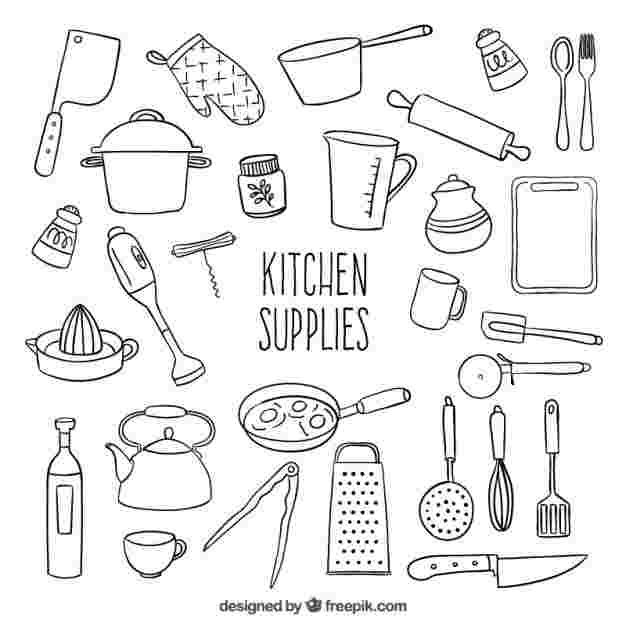 Kitchen Tools Coloring Pages Doodle Lettering Bullet Journal Doodles Bullet Journal Inspiration
