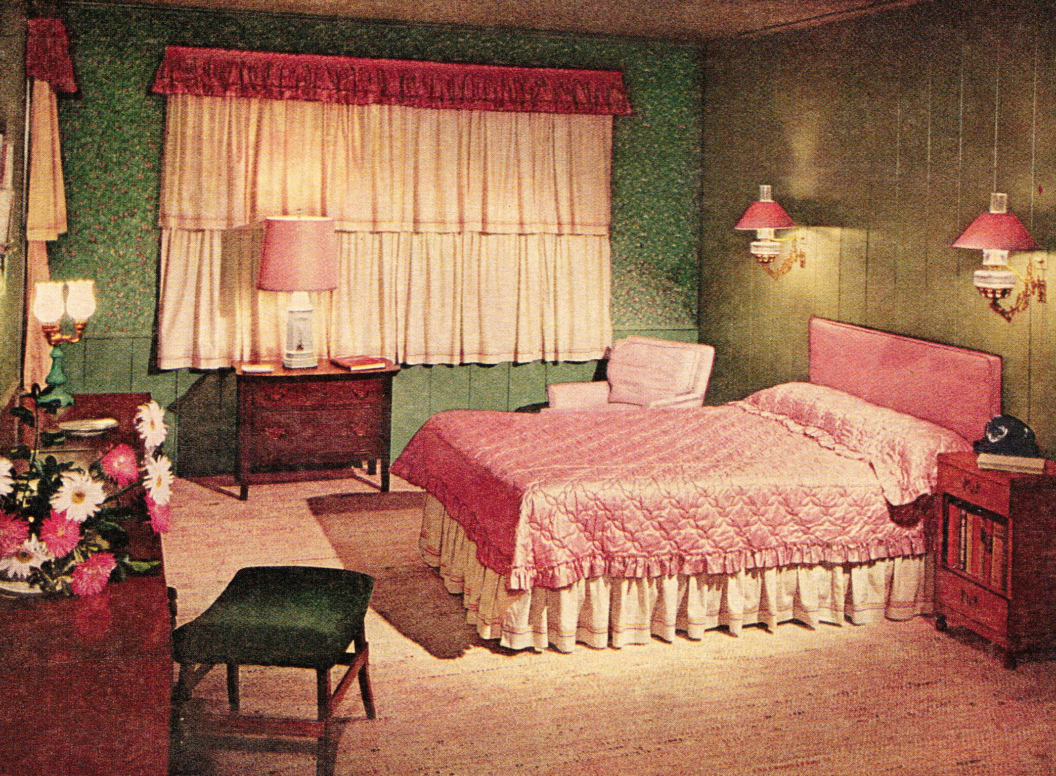 Best Glamorous Pink Mid Century Bedroom 1953 Http Www 640 x 480