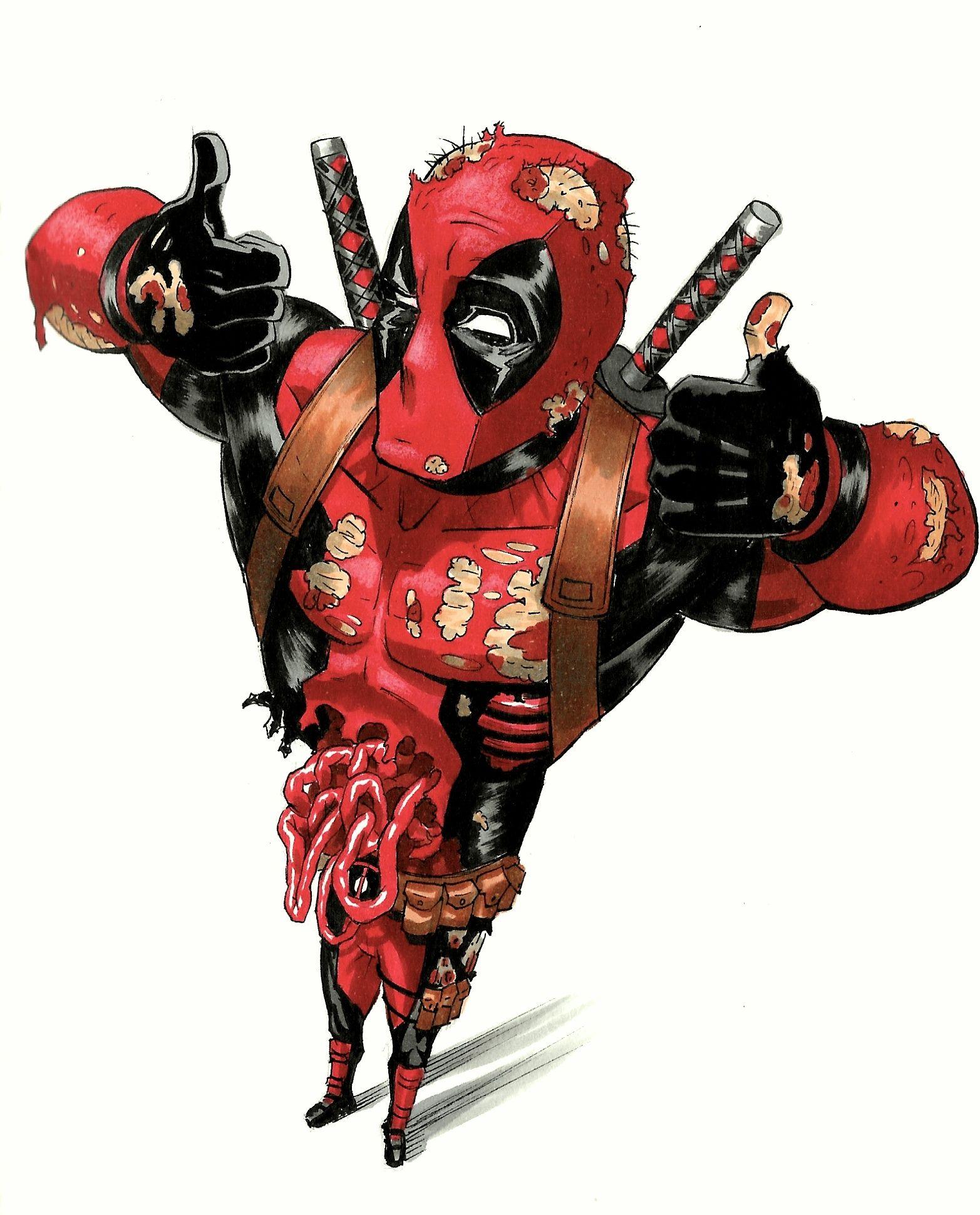 Art by Martim Chiarella - #deadpool #copic #marvel #comics | Deadpool art,  Deadpool pikachu, Deadpool pictures