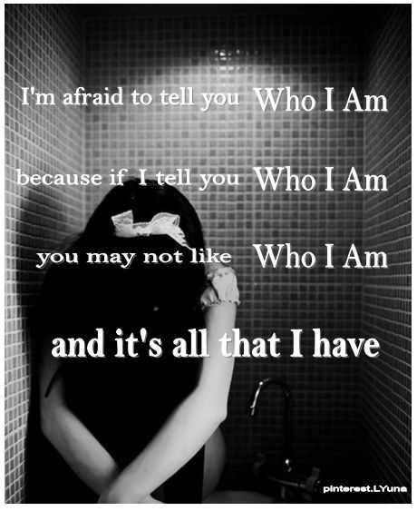 Sad Quotes About Depression: Who I Am. For Sad / Depressed Girls