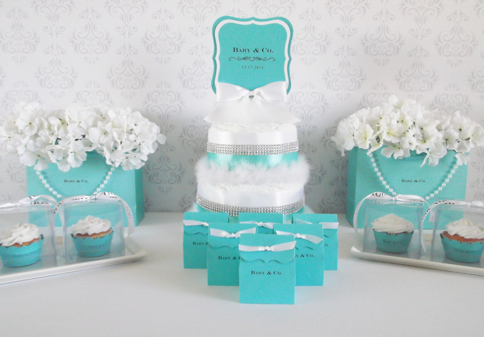 Baby & Co. Gift Bags with Pearl Strands S/2 | Tiffany, Centrepieces ...