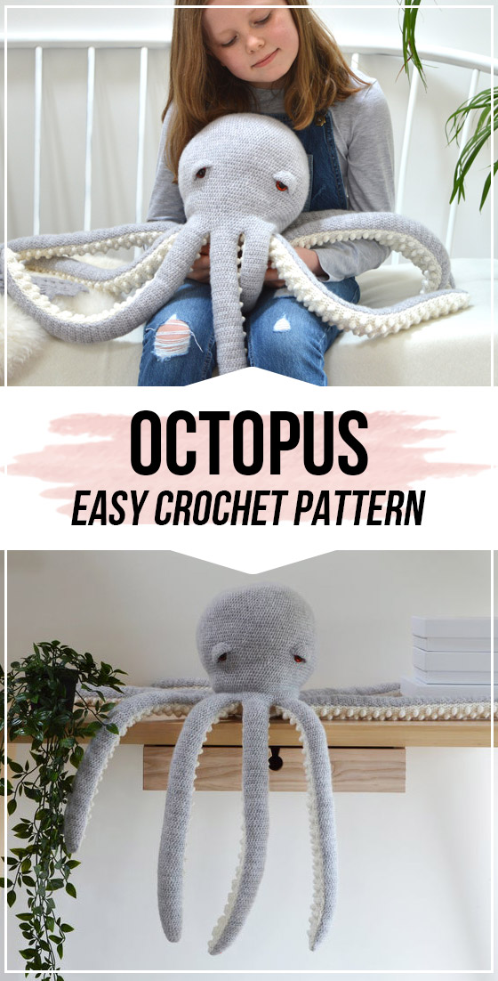 crochet Octopus Crochet Pattern - easy crochet amigurumi pattern for beginners