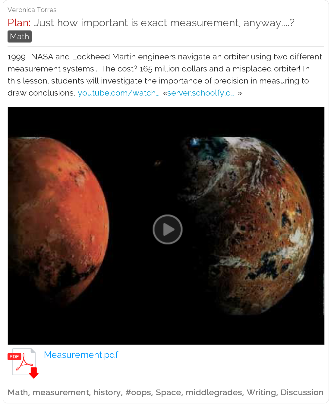 Mars Math Just How Important Is Exact Measurement This