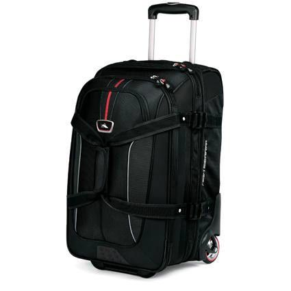High Sierra At6 Carry On Expandable Wheeled Duffel With