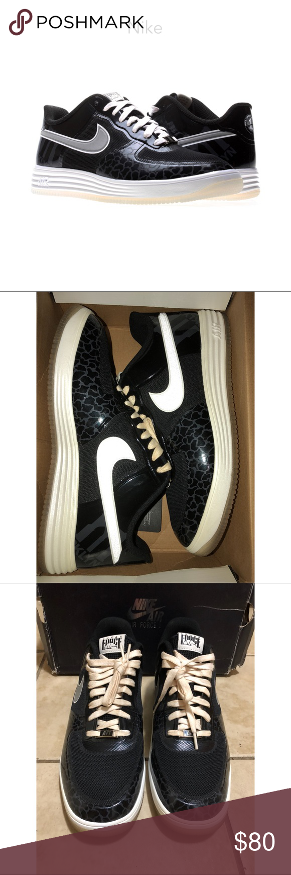 d3b97aba99f9 Nike Lunar Force 1 Fuse City Nike Lunar Force 1 Fuse City black   white  sneakers. Great condition. Men s size 13. Comes with original box   laces.