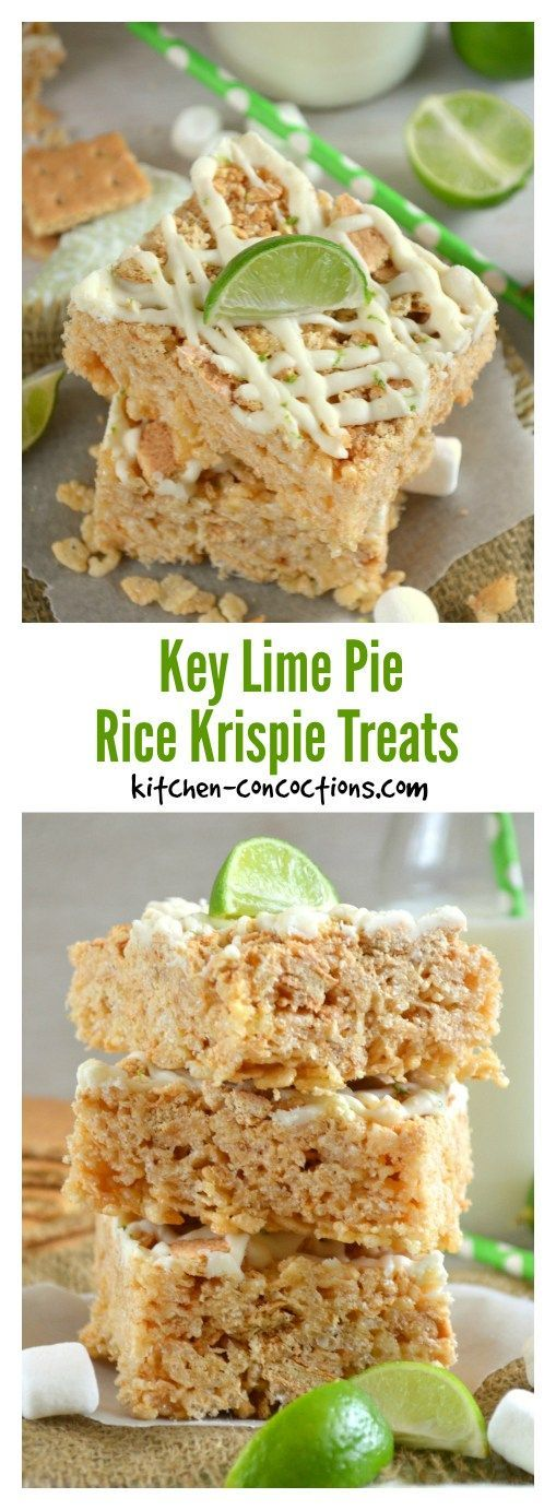 Key Lime Pie Rice Krispie Treats - A sweet childhood treat with the flavors of a sophisticated dessert, this Key Lime Pie Rice Krispie Treat recipe, is the perfect no bake dessert for sharing with friends! Key Lime Pie Rice Krispie Treats - A sweet childhood treat with the flavors of a sophisticated dessert, this Key Lime Pie Rice Krispie Treat recipe, is the perfect no bake dessert for sharing with friends!