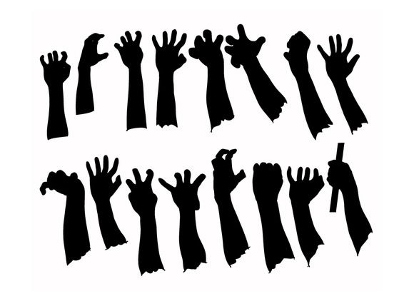 Zombie Hands Silhouettes Template Google Search Halloween Window Silhouettes Halloween Window Halloween Silhouettes