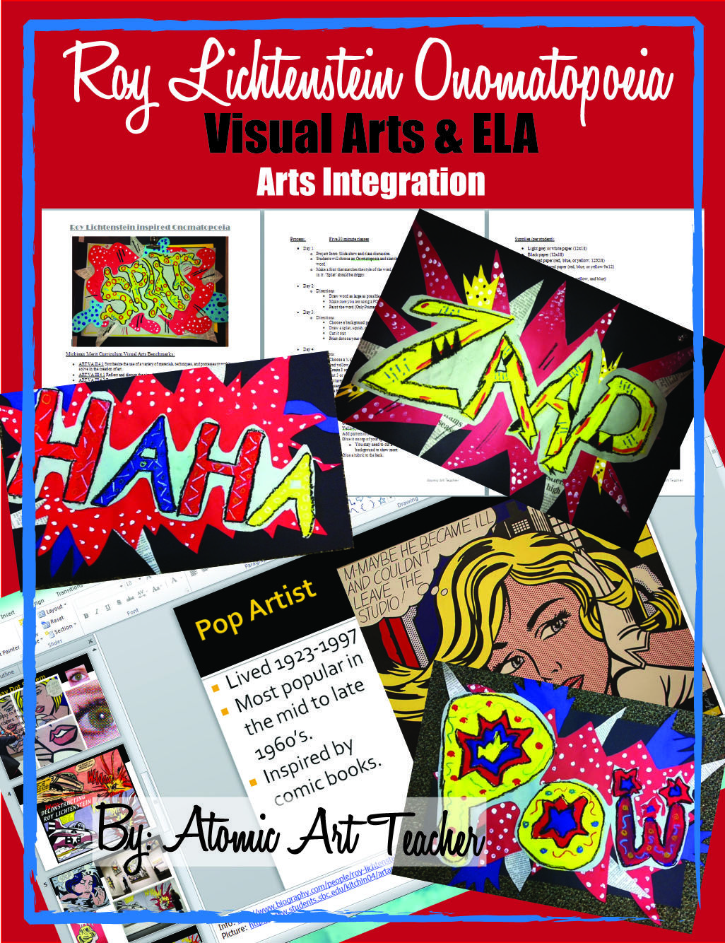 Lichtenstein Onomatopoeia Visual Arts Project