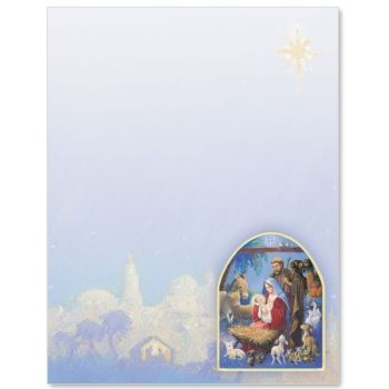 Christmas Border Paper Christmas Letterhead Paperdirect Christmas Letterhead Christmas Stationery Christmas Nativity