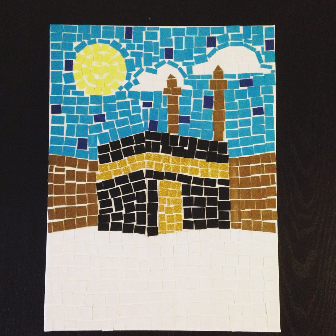Eid Al Adha Kaaba Mosaic Craft For Kids Eid Crafts Ramadan