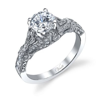 ENGAGEMENT RINGS :: 14K W RING 68RD 0.36CT -
