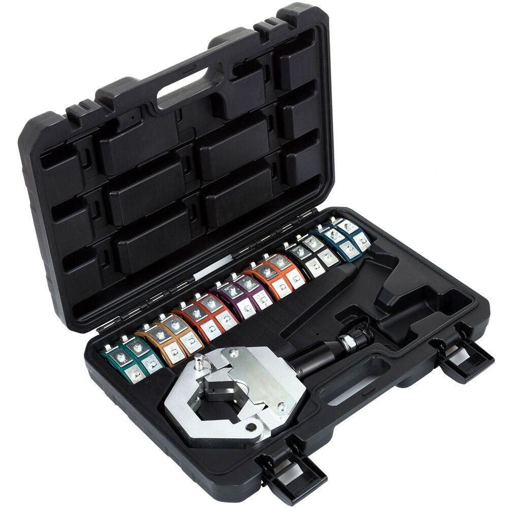 Sponsored Ebay Hydraulic Hose Crimper Tool Kit 7 Dies Crimper Snap Hydra Krimp Air Condtioning Crimper Tool Kit Vacuum Pump