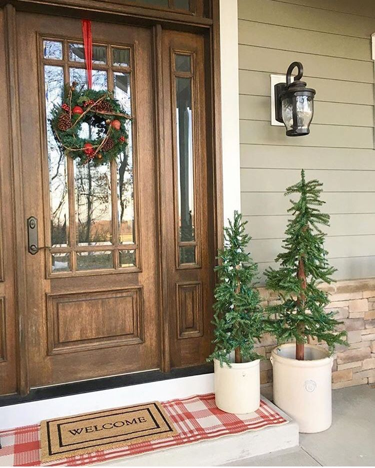 Layering Outdoor Rugs Holiday Front Porch Farmhouse Redefined