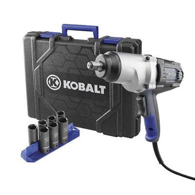 Kobalt Impact Drivers Wrench 6904 8 Amp 1 2 In Reversible Corded Impact Wrench Kit Electric Impact Wrench Impact Wrench Impact Wrenches