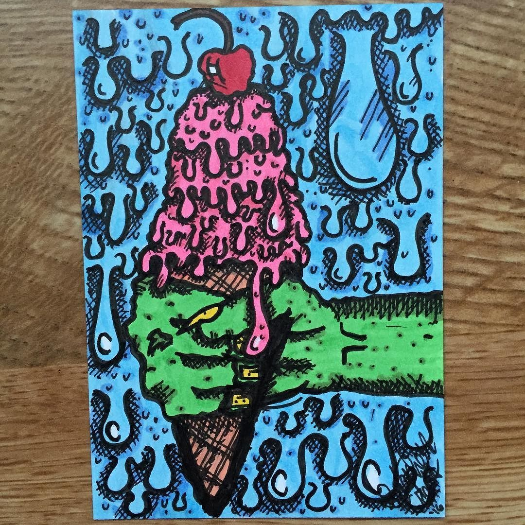 Co color art printing anchorage alaska - Drippy Melty Ice Cream Goodness Draw Drawing Doodle Graphics Design Anchorage Alaskacozy