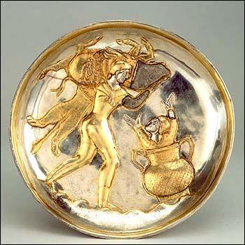 Iran Visual Arts The Art Of Sassanians Silver Gilt Plate
