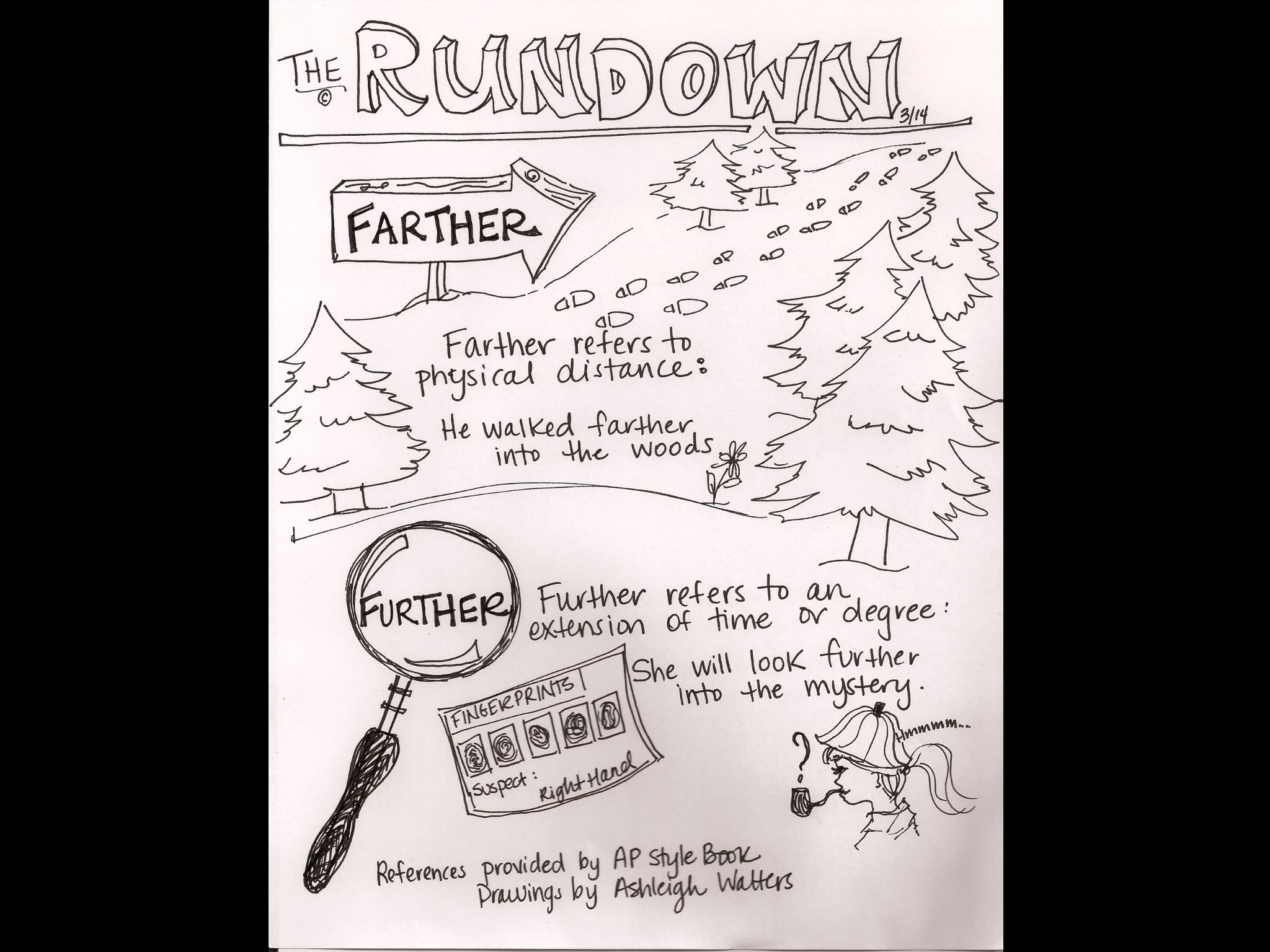 The Rundown Illustrated By Television News Anchor