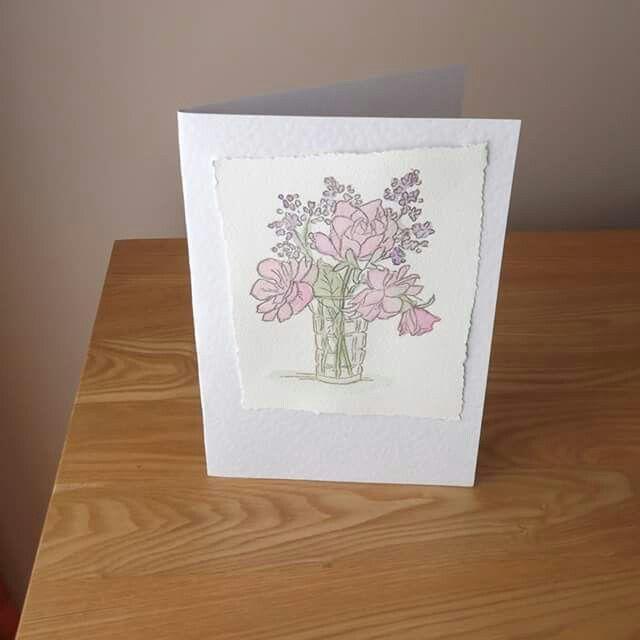 Stamp bouquet watercolour