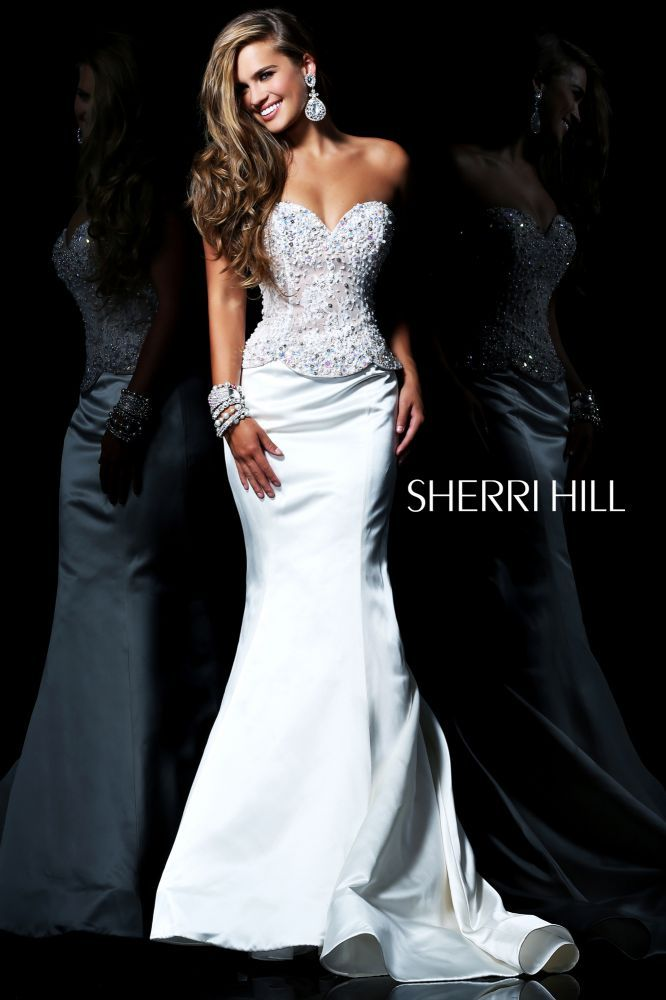 Sherri Hill 21019 Ivory/Nude Strapless Prom Dress 2014 - $185.00 ...