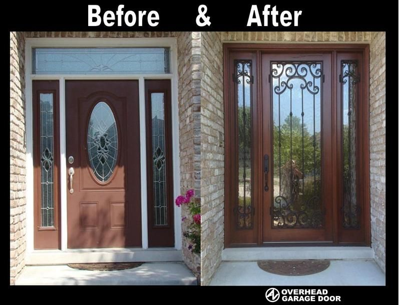 Entry Door Makeover Removed Transom And Replaced With 96 High