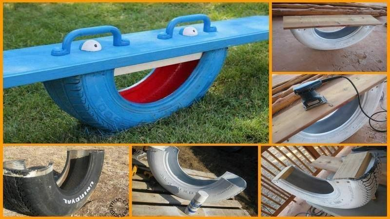 Fabriquer une balan oire bascule jardin pinterest bascule jeux exterieur et pneu - Fabriquer une balancoire ...