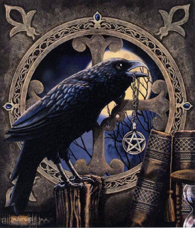 Готическая ворона картинка