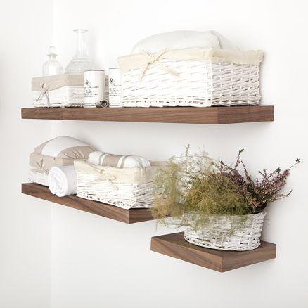 Aero madera decoraci n ba o pinterest madera repisas y ba os - Baldas para bano ...