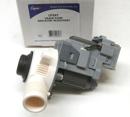 Supco Lp397 Washer Water Drain Pump Motor For Whirlpool Cabrio