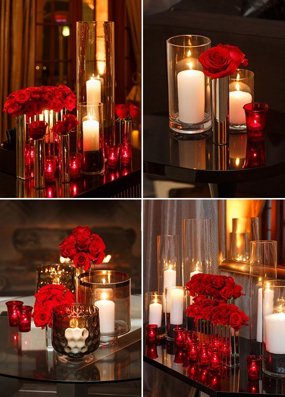 Dekoration Rot You Can Find Beautiful Red Roses And Candles Arrangements