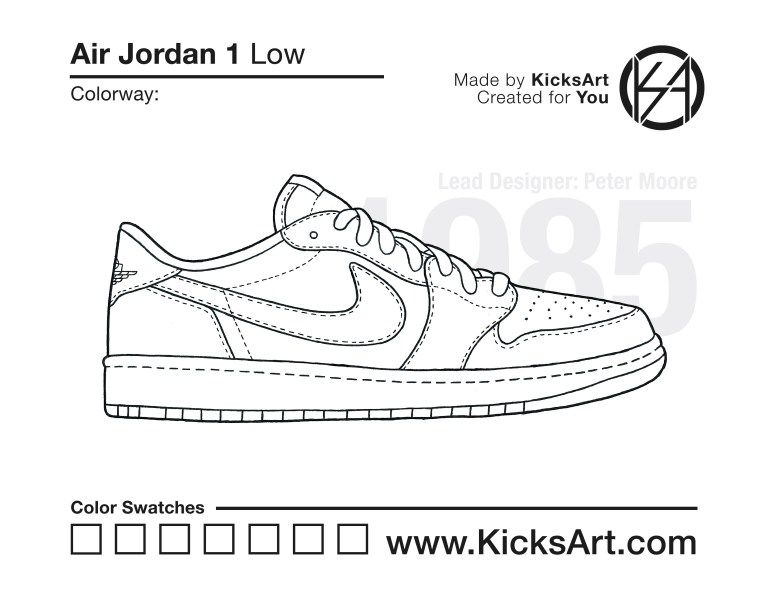 Air Jordan 1 Low Stencil Air Jordans Nike Sb Dunks Sneakers