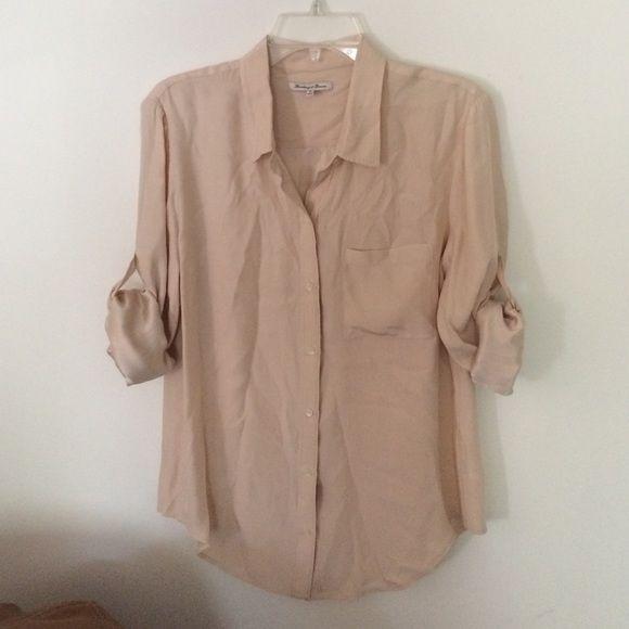 f53876b7c3da0 Madewell silk button front top. Roll SleevesMadewellButton Down  ShirtsSilkButtons