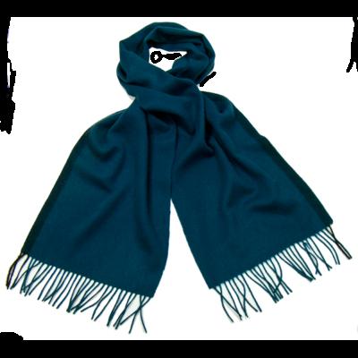 echarpe en laine tissée bleu canard rayure   mesecharpes.com ... 7850c4a15d4