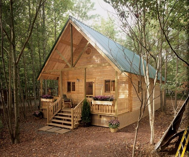 Small Cabin Plan Build Yourself Small Cabin Building Plans: Mountain King Log Cabin Floor Plan