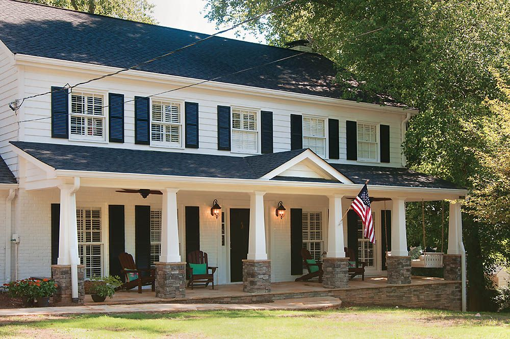 Pin By Georgia Front Porch On Andrea And Mannys 1st House With Interior Exterior Bars Outdoor Stuff Room Ideas Etc In 2020 Brick Exterior House Porch Design Craftsman Front Porches