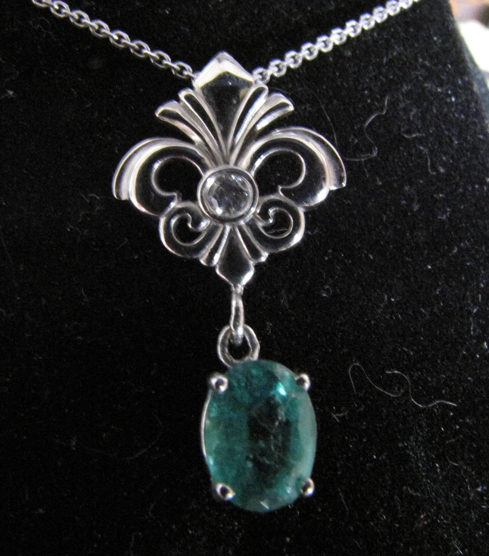 This Is The Necklace David Gave Me For Our 10th Wedding Anniversary 2 Years Ago A Fleur De Lis With A Diam Wedding Rings 10th Wedding Anniversary My Wedding