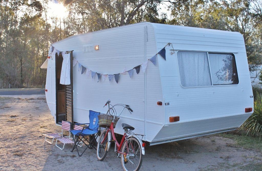 Vintage Retro Caravan Coastal Chic Weekender Mobile Market Site Office Surf Fishing Van in Cars, Bikes, Boats, Caravans, Motorhomes | For Sale on eBay