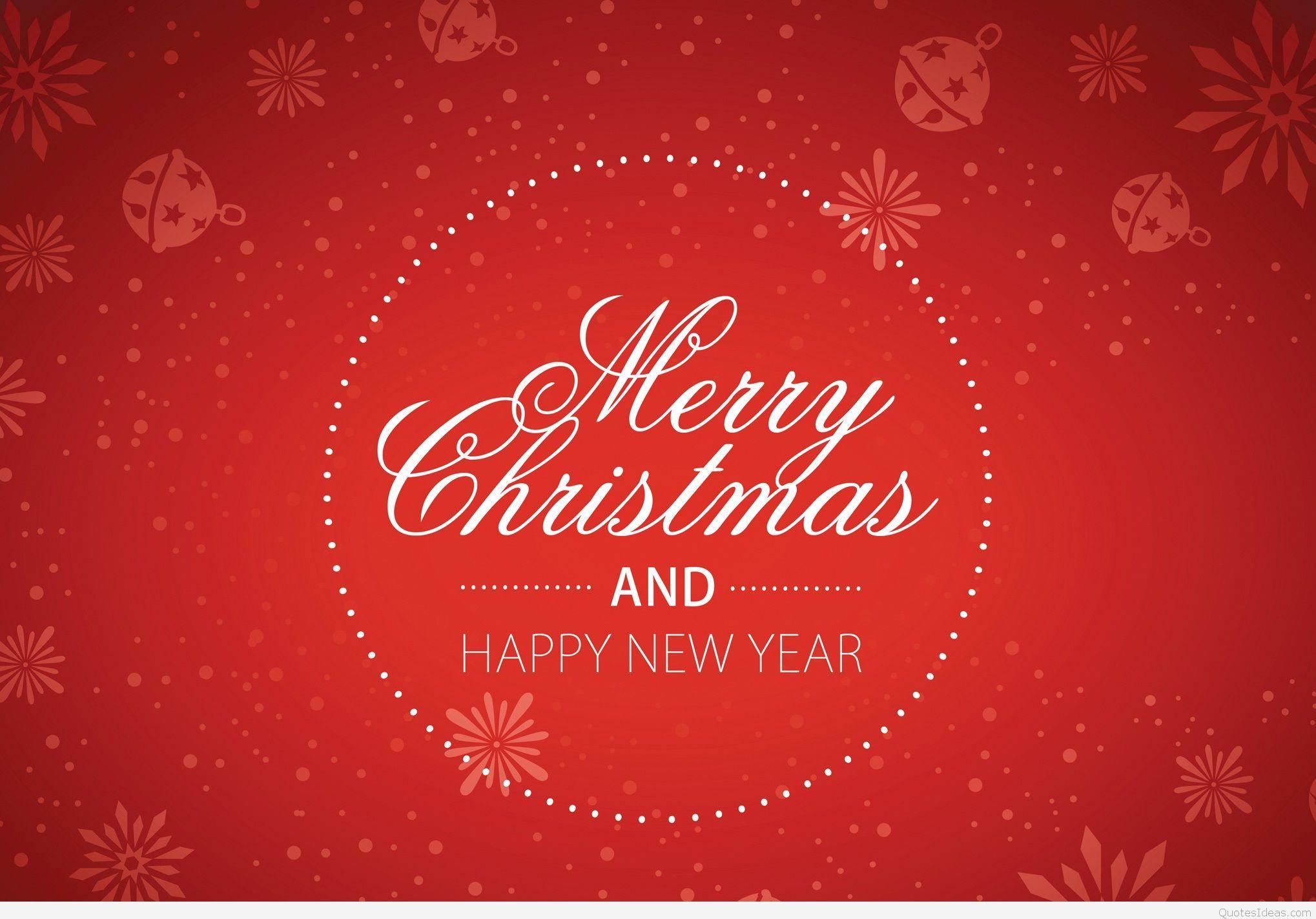 merry christmas happy new year desktop background