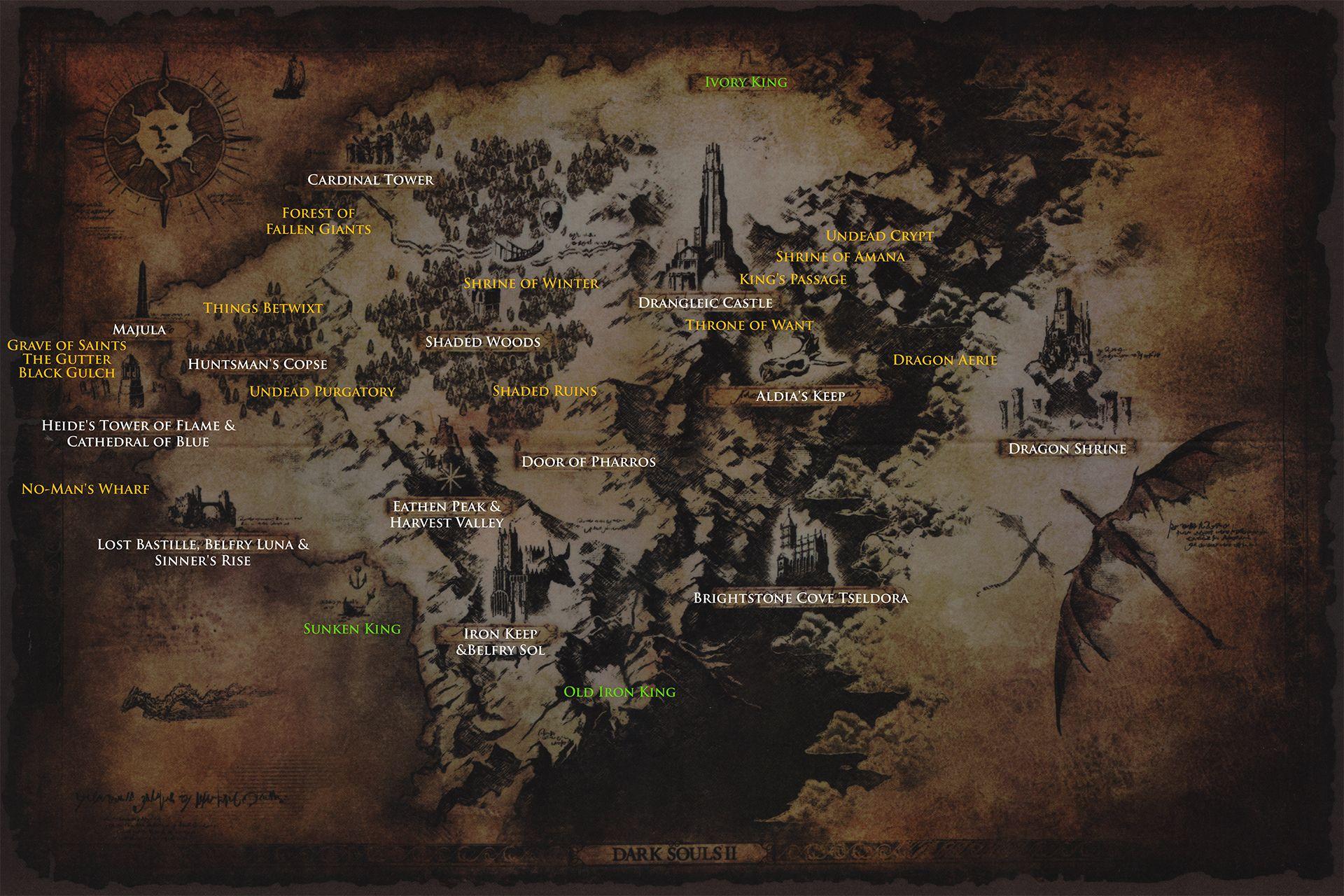Dark Souls 2 World Map drangleic_map_dlc. (1920×1280) (With images) | Dark souls, Dark