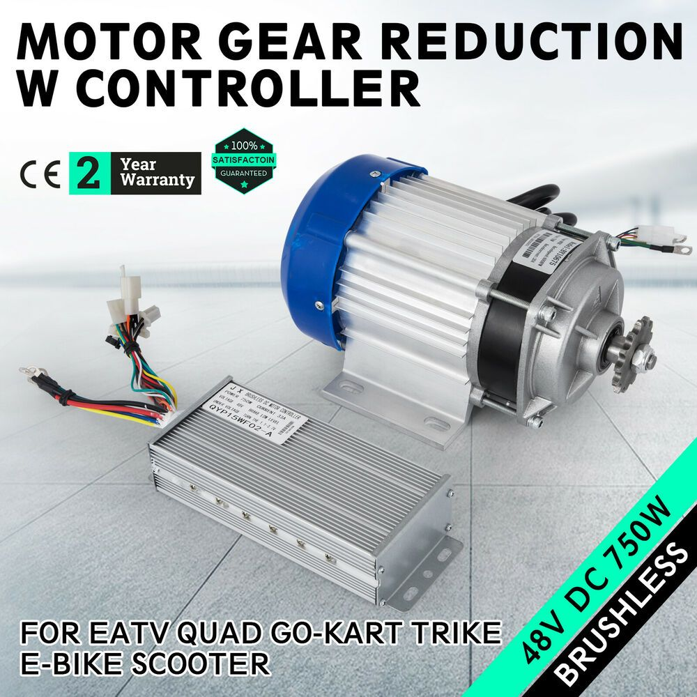48v 750w Electric Gokart Tricycle Brushless Motor Gear Reduction W Controller Go Kart Gear Reduction Diy Go Kart