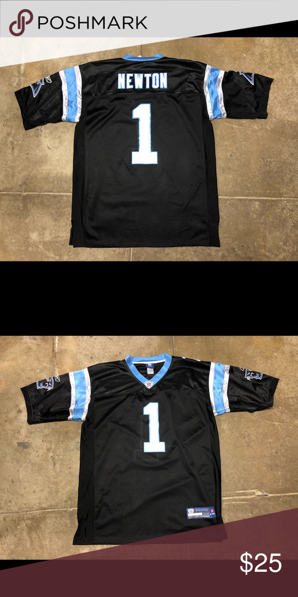 official photos 01cc8 dbb49 Newton Panthers Football Jersey Stitched Reebok Up for sale ...