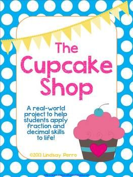 This in-class project provides students with a fun way to put their fraction, decimal and equation writing/solving skills to work in a fun, real world scenario. Students will be able to apply what they know about fraction and decimal operations, as well as writing and solving inequalities and equations to operating a cupcake shop. The project includes group collaboration as well as independent work. All independent work ends with group discussion.