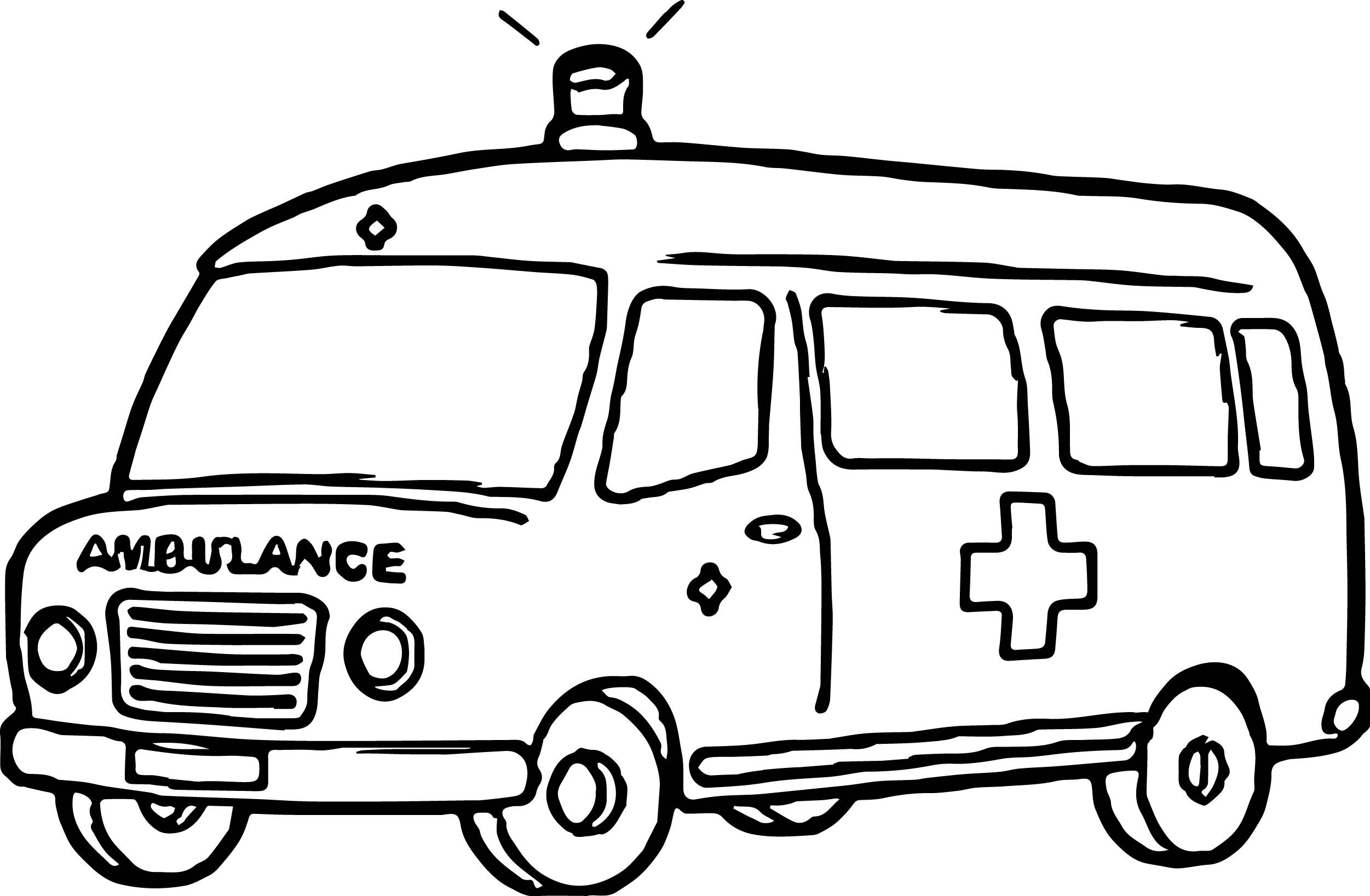 Ambulance Coloring Pages Review Designs Trend