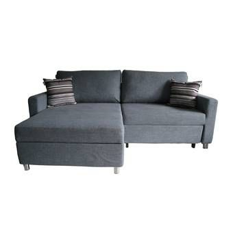 Buy AVINO Renmark Sectional Sofabed with Storage Ash Blue online